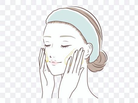女人化妝卸妝