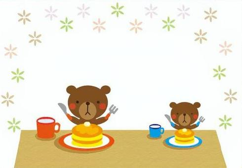 Bear and hot cake - flower pattern