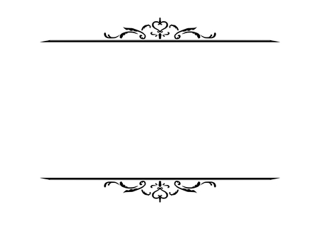 Antique top and bottom frame