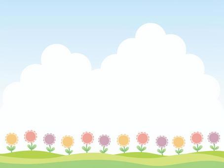 領域與花的風景