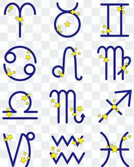 Constellation symbol list (blue)