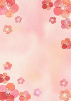Ume_ pastel_ Japanese paper _ longitudinal background