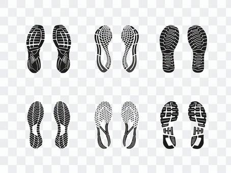 Shoe mark set 1