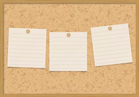 软木板和纸