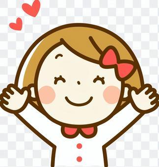 一個微笑的女孩