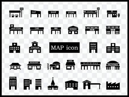 地圖建築輪廓