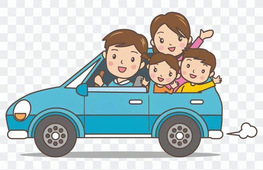 由全家人开车
