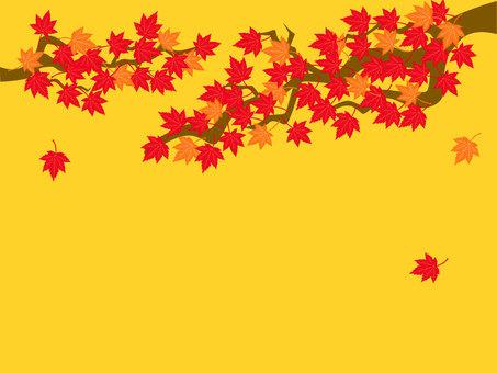 Autumn leaves tree background / wallpaper illustration
