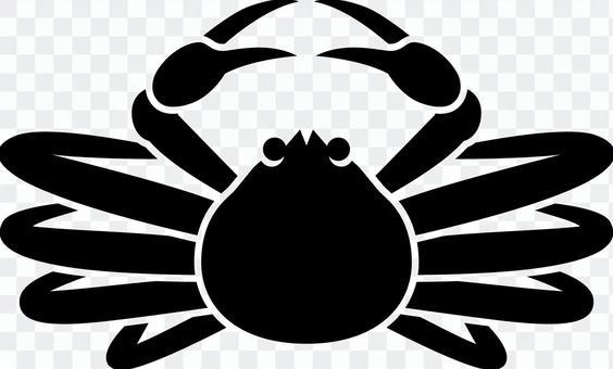 Matsuba crab _ Silhouette _ 02 _ black