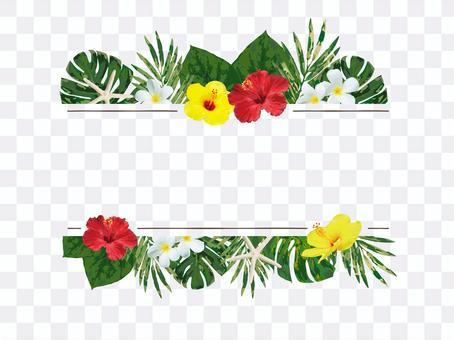 Hawaii Flower Frame 2