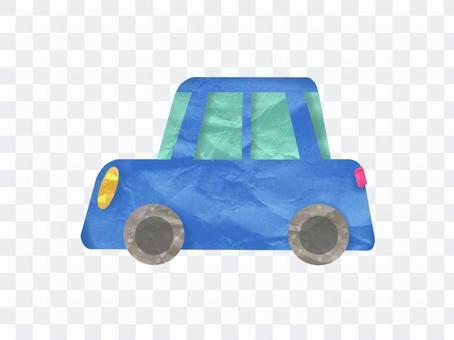 藍色的多彩和可愛的車