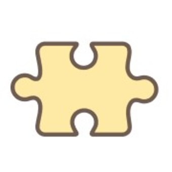 Puzzle piece play life yellow