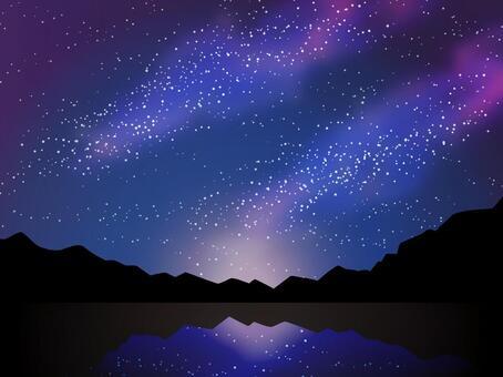 滿天星斗的星空銀河七夕天文觀測