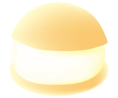 Maritozzo with plenty of yellowish cream