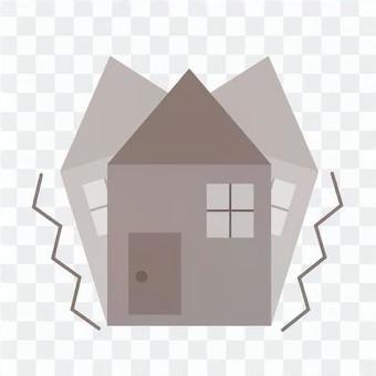 房子震動的形象