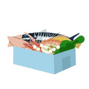 裝滿海鮮的盒裝