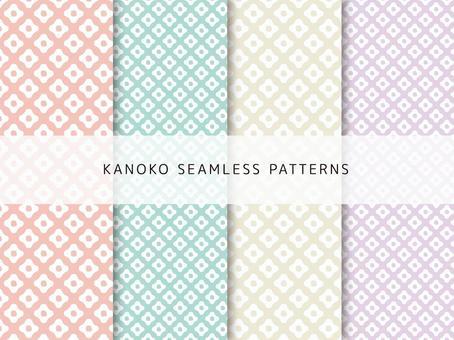 Kanoko pattern set