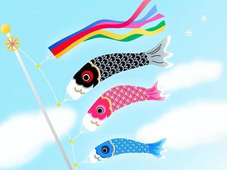 鯉魚飄帶的插圖