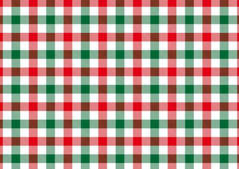 ギンガムチェック<赤×緑×白>