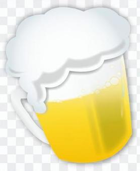 生啤酒杯插圖