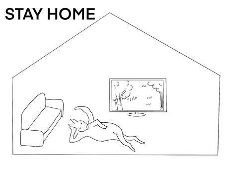 呆在家裡的袋鼠也是輕鬆自在
