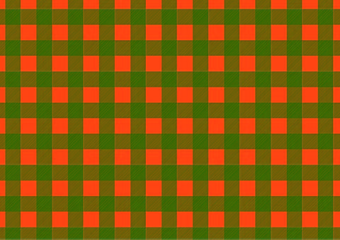 Halloween-colored gingham check ③