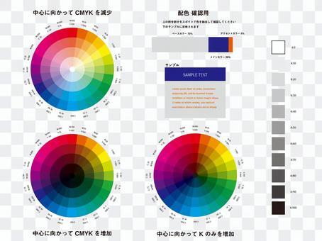 設計的24色顏色圖表