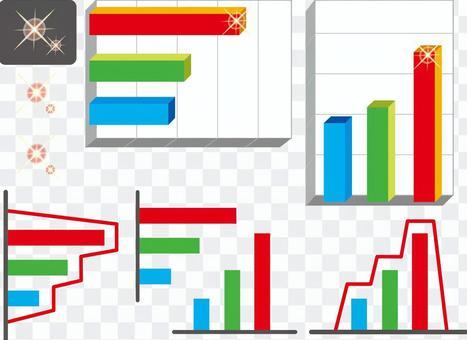 Illustration bar chart diagram presentation material