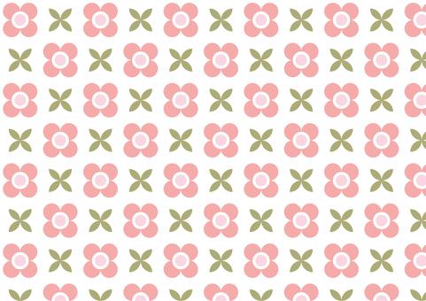 復古現代花卉圖案壁紙