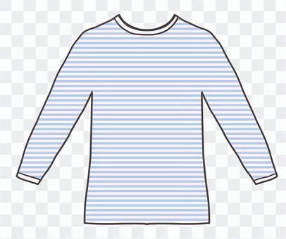Tシャツ(水色ボーダー)