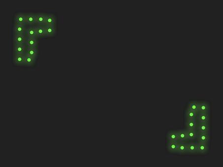 """""""燃燒支架""""照明框:綠色"""