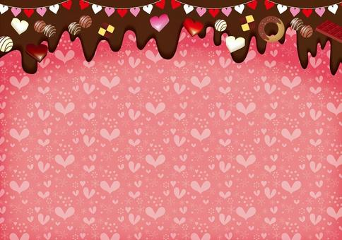 Valentine's melting chocolate and heart card