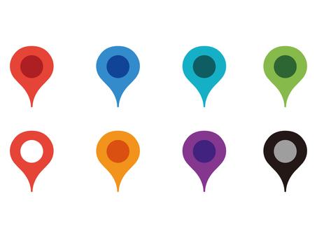 Map pin mark