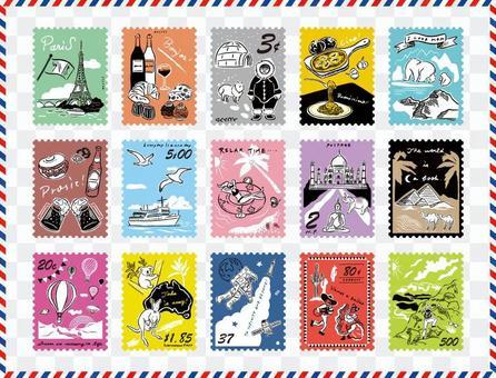 郵票_world