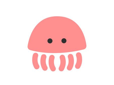 Jellyfish (pink) illustration