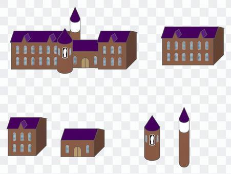 Street series monastery / Western-style building