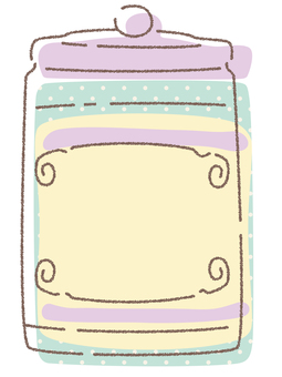 鬆散的手寫風格糖果罐