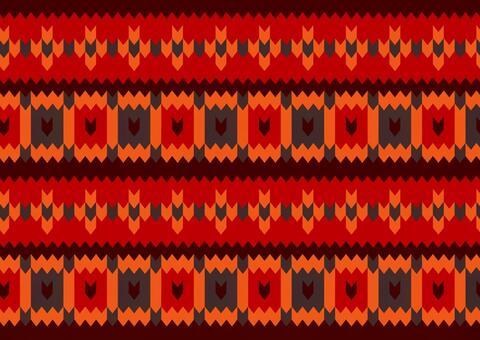 Stitch red knit pattern