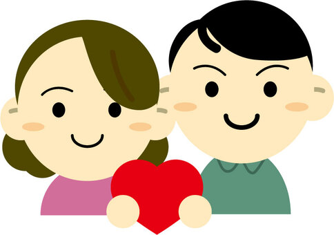A couple with a heart · a couple