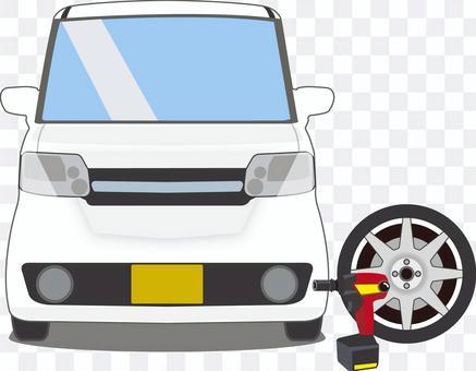 輕型汽車換輪胎