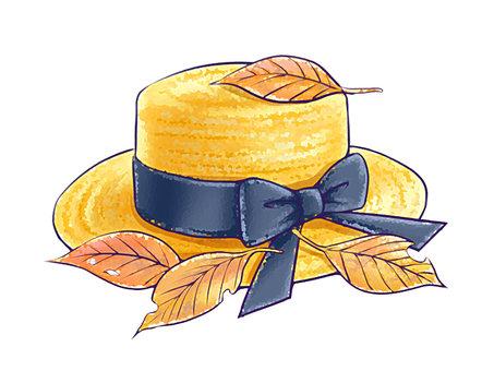 落葉和草帽