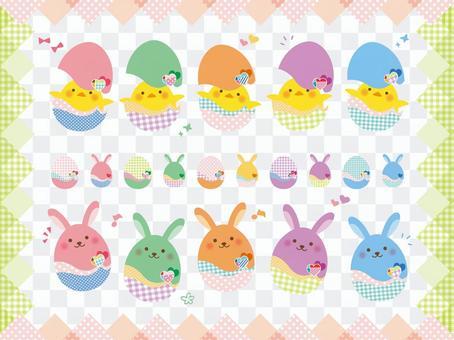 Easter set 01_ pastel color
