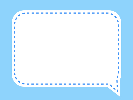 Simple stitch light blue square balloon frame