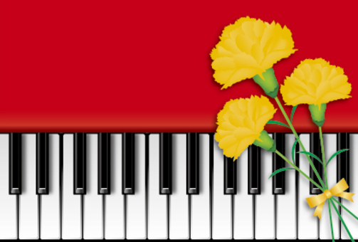 Piano and Carnation 2
