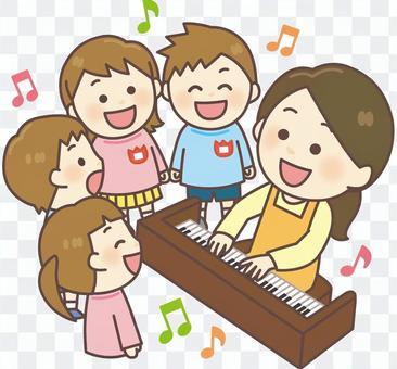 幼兒園老師和孩子(唱歌練習)