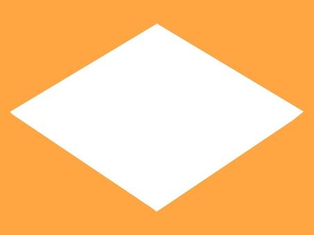 橙色背景框架菱形