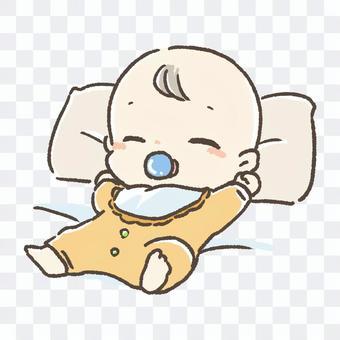 嬰兒舒適地睡覺