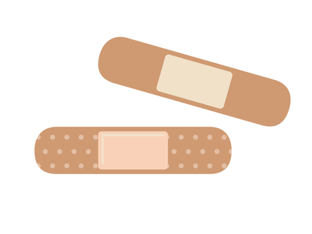 Illustration of adhesive plaster front and back