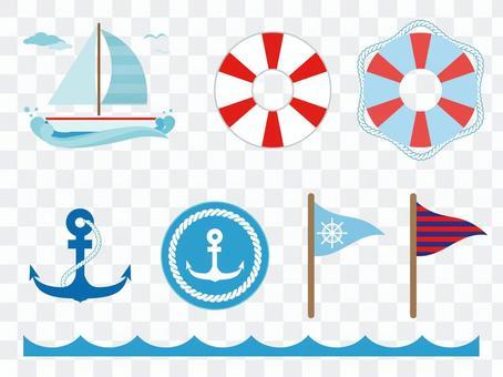 海洋圖標各種2
