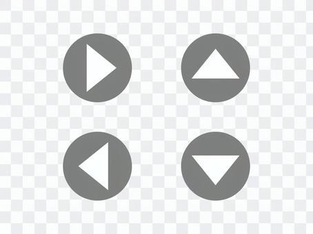Triangular arrow _ yen (gray)